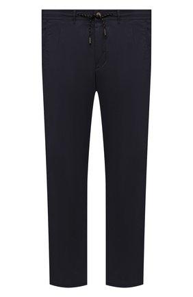 Мужские хлопковые брюки EDUARD DRESSLER темно-синего цвета, арт. 150138/51W09 | Фото 1