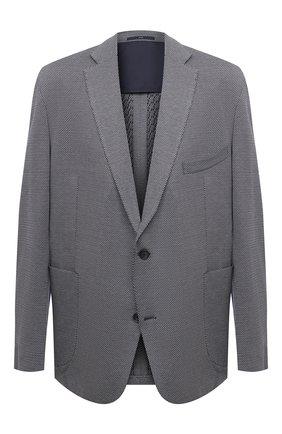 Мужской хлопковый пиджак EDUARD DRESSLER синего цвета, арт. 7301/21J02 | Фото 1