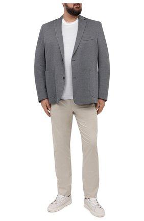 Мужской хлопковый пиджак EDUARD DRESSLER синего цвета, арт. 7301/21J02 | Фото 2