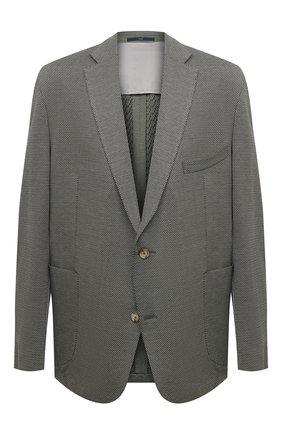 Мужской хлопковый пиджак EDUARD DRESSLER хаки цвета, арт. 7301/21J02 | Фото 1