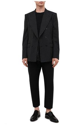 Мужские кожаные дерби FENDI черного цвета, арт. 7L1417 AF50   Фото 2