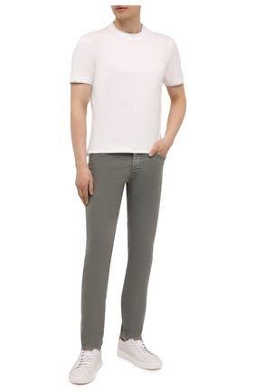 Мужская хлопковая футболка BRUNELLO CUCINELLI белого цвета, арт. M0T617427 | Фото 2