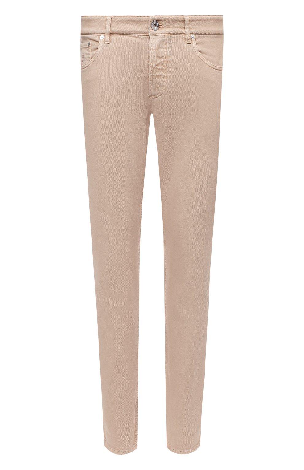 Мужские джинсы BRUNELLO CUCINELLI бежевого цвета, арт. M277PD2210 | Фото 1 (Силуэт М (брюки): Прямые; Длина (брюки, джинсы): Стандартные; Материал внешний: Хлопок, Деним; Стили: Кэжуэл)