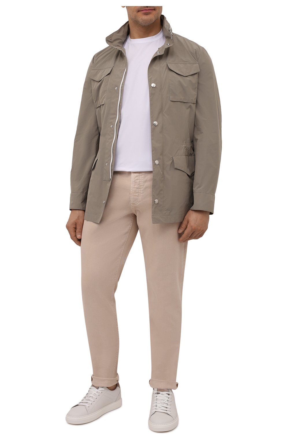 Мужские джинсы BRUNELLO CUCINELLI бежевого цвета, арт. M277PD2210 | Фото 2 (Силуэт М (брюки): Прямые; Длина (брюки, джинсы): Стандартные; Материал внешний: Хлопок, Деним; Стили: Кэжуэл)