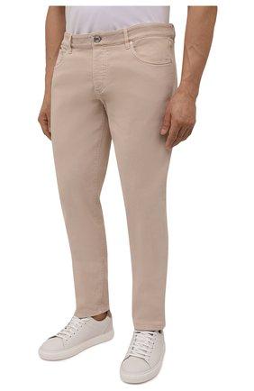 Мужские джинсы BRUNELLO CUCINELLI бежевого цвета, арт. M277PD2210 | Фото 3 (Силуэт М (брюки): Прямые; Длина (брюки, джинсы): Стандартные; Материал внешний: Хлопок, Деним; Стили: Кэжуэл)