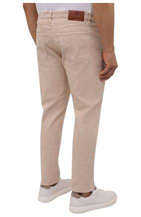 Мужские джинсы BRUNELLO CUCINELLI бежевого цвета, арт. M277PD2210 | Фото 4 (Силуэт М (брюки): Прямые; Длина (брюки, джинсы): Стандартные; Материал внешний: Хлопок, Деним; Стили: Кэжуэл)
