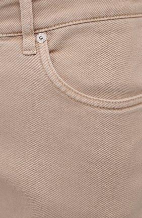 Мужские джинсы BRUNELLO CUCINELLI бежевого цвета, арт. M277PD2210 | Фото 5 (Силуэт М (брюки): Прямые; Длина (брюки, джинсы): Стандартные; Материал внешний: Хлопок, Деним; Стили: Кэжуэл)