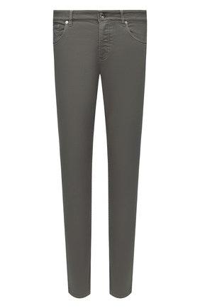 Мужские джинсы BRUNELLO CUCINELLI хаки цвета, арт. M277PD2210 | Фото 1