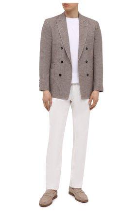 Мужской пиджак из шерсти и шелка BRUNELLO CUCINELLI бежевого цвета, арт. MQ4267BBD | Фото 2