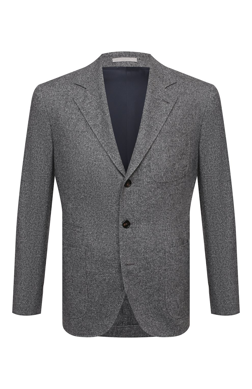 Мужской пиджак из шерсти и шелка BRUNELLO CUCINELLI серого цвета, арт. MQ4347BND   Фото 1