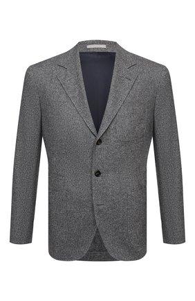 Мужской пиджак из шерсти и шелка BRUNELLO CUCINELLI серого цвета, арт. MQ4347BND | Фото 1