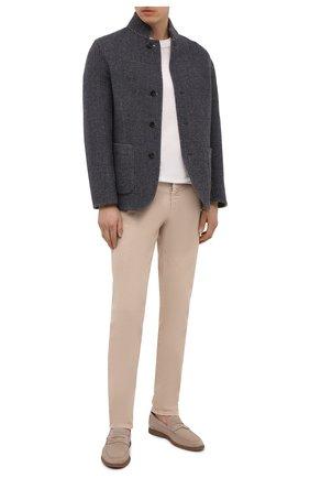 Мужской двустороннее пальто из шерсти и кашемира BRUNELLO CUCINELLI серого цвета, арт. MQ4399920 | Фото 2 (Материал внешний: Шерсть; Длина (верхняя одежда): Короткие; Рукава: Длинные; Стили: Кэжуэл; Мужское Кросс-КТ: пальто-верхняя одежда)