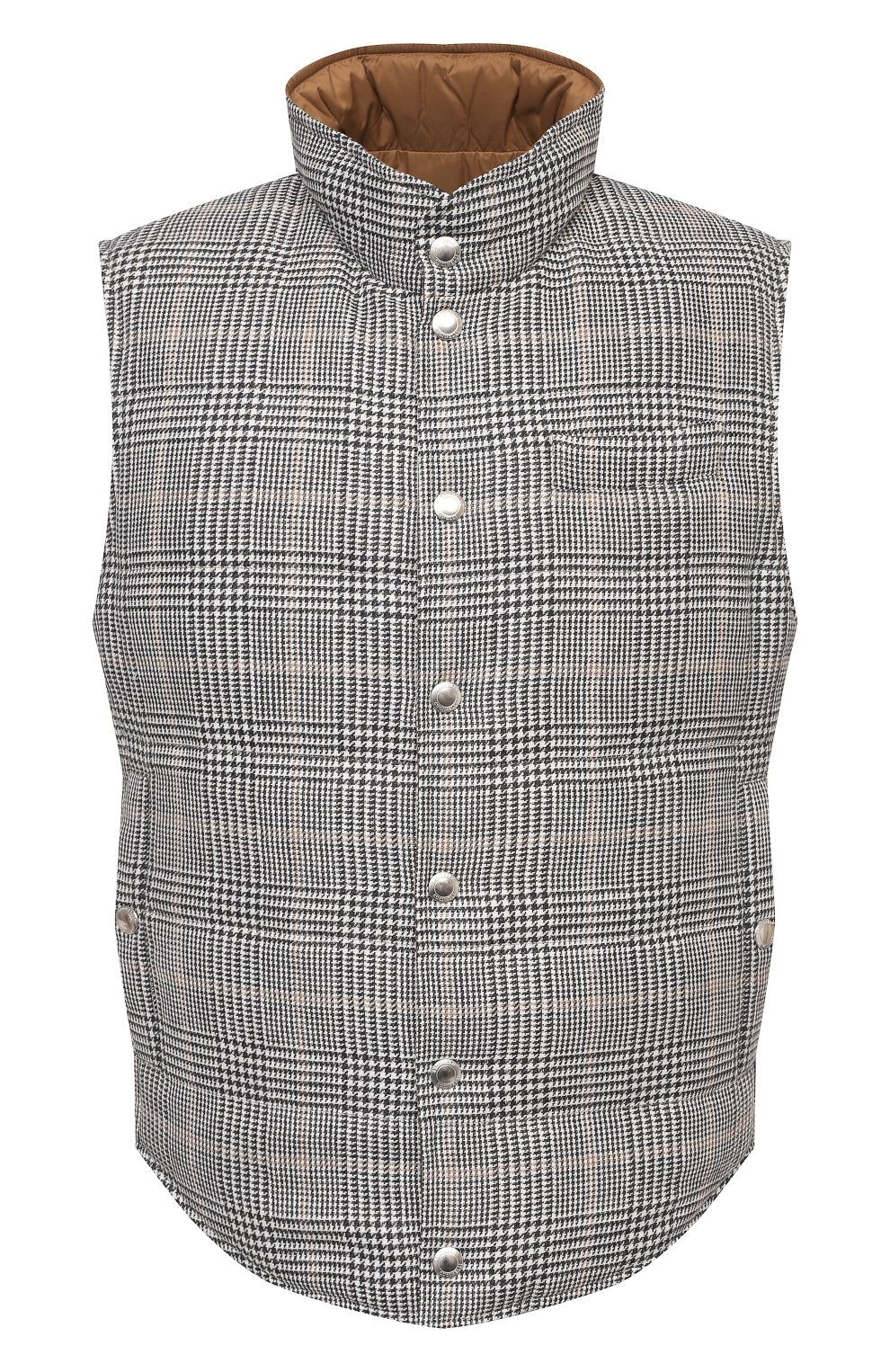Мужской двусторонний жилет BRUNELLO CUCINELLI серого цвета, арт. MW4081765 | Фото 1