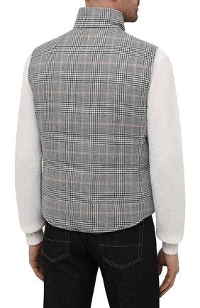 Мужской двусторонний жилет BRUNELLO CUCINELLI серого цвета, арт. MW4081765 | Фото 4