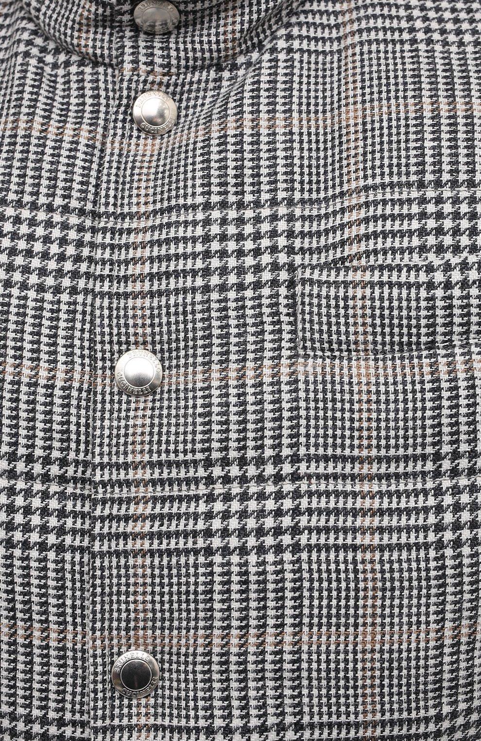 Мужской двусторонний жилет BRUNELLO CUCINELLI серого цвета, арт. MW4081765 | Фото 5