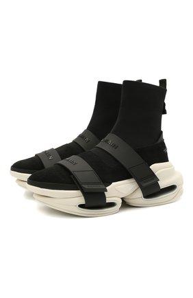 Мужские комбинированные кроссовки b-bold BALMAIN черного цвета, арт. VM0VH229/TKUD | Фото 1