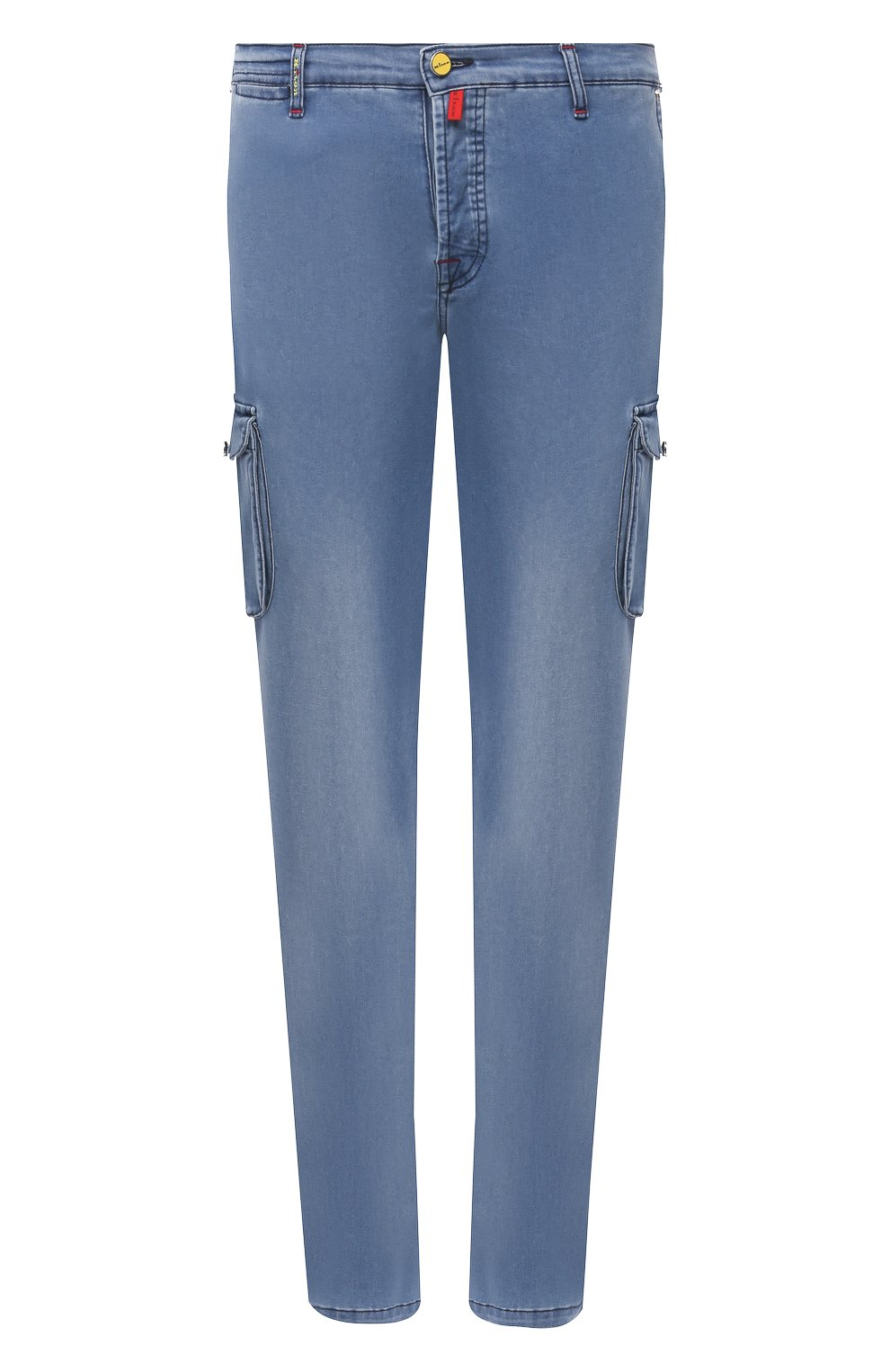 Мужские джинсы KITON голубого цвета, арт. UFPPCA/J07T31 | Фото 1