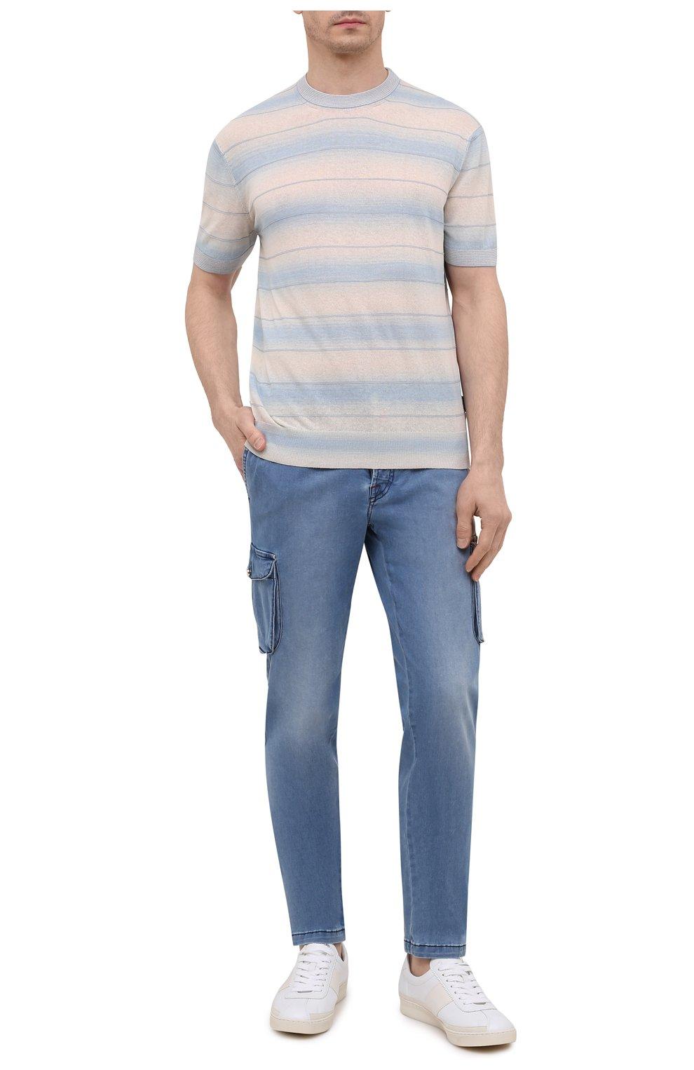 Мужские джинсы KITON голубого цвета, арт. UFPPCA/J07T31 | Фото 2
