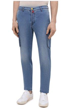 Мужские джинсы KITON голубого цвета, арт. UFPPCA/J07T31 | Фото 3