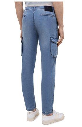Мужские джинсы KITON голубого цвета, арт. UFPPCA/J07T31 | Фото 4