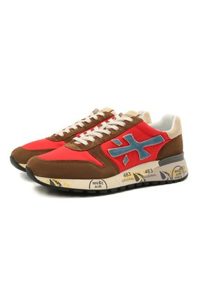 Мужские комбинированные кроссовки mick PREMIATA красного цвета, арт. MICK/VAR5193 | Фото 1