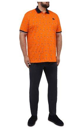 Мужское хлопковое поло PAUL&SHARK оранжевого цвета, арт. 21411256/C00/3XL-6XL | Фото 2