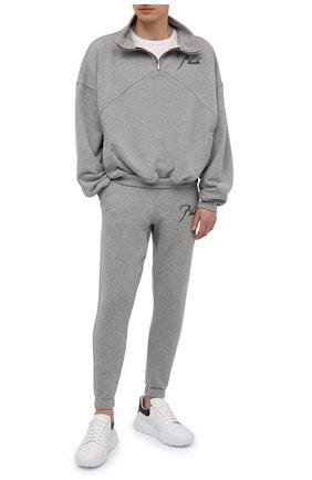 Мужской хлопковая толстовка RHUDE серого цвета, арт. RHPS21SW00000007 | Фото 2