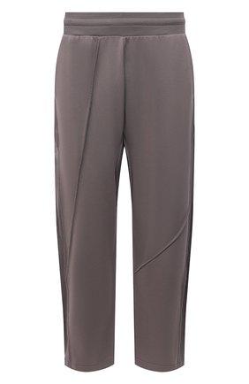 Мужские хлопковые брюки A-COLD-WALL* серого цвета, арт. ACWMB064   Фото 1 (Длина (брюки, джинсы): Стандартные; Стили: Минимализм; Случай: Повседневный; Мужское Кросс-КТ: Брюки-трикотаж; Материал внешний: Хлопок)
