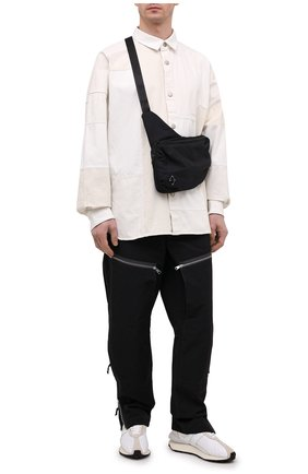Мужская текстильная поясная сумка A-COLD-WALL* черного цвета, арт. ACWUG031   Фото 2 (Материал: Текстиль; Ремень/цепочка: На ремешке)