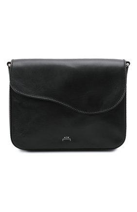Мужская кожаная сумка A-COLD-WALL* черного цвета, арт. ACWUGL004   Фото 1 (Материал: Натуральная кожа; Ремень/цепочка: На ремешке)