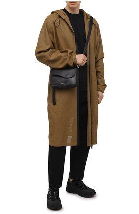 Мужская кожаная сумка A-COLD-WALL* черного цвета, арт. ACWUGL004   Фото 2 (Материал: Натуральная кожа; Ремень/цепочка: На ремешке)