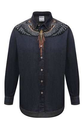 Мужская джинсовая рубашка MARCELO BURLON синего цвета, арт. CMYD014S21DEN001 | Фото 1
