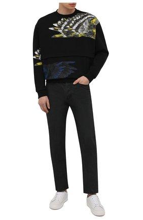 Мужской хлопковый свитшот MARCELO BURLON черного цвета, арт. CMBA091S21FLE002 | Фото 2