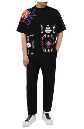 Мужская хлопковая футболка MARCELO BURLON черного цвета, арт. CMAA054S21JER003 | Фото 2 (Рукава: Короткие; Принт: С принтом; Длина (для топов): Стандартные; Стили: Этно; Материал внешний: Хлопок)