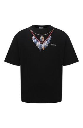 Мужская хлопковая футболка MARCELO BURLON черного цвета, арт. CMAA054S21JER002 | Фото 1