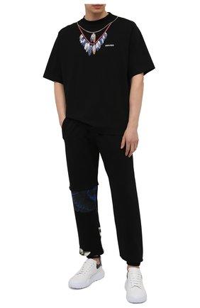 Мужская хлопковая футболка MARCELO BURLON черного цвета, арт. CMAA054S21JER002 | Фото 2
