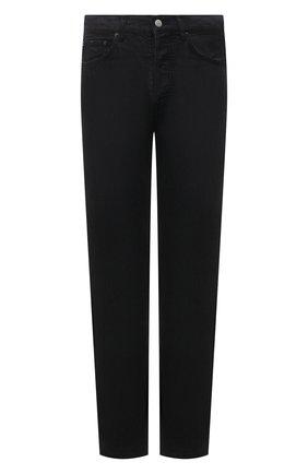 Мужские джинсы AMBUSH черного цвета, арт. BMYA002S21DEN001 | Фото 1 (Длина (брюки, джинсы): Стандартные; Силуэт М (брюки): Прямые; Стили: Гранж; Материал внешний: Хлопок; Кросс-КТ: Деним)