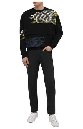 Мужские джинсы AMBUSH черного цвета, арт. BMYA002S21DEN001 | Фото 2