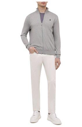 Мужской хлопковый кардиган POLO RALPH LAUREN серого цвета, арт. 710775899 | Фото 2 (Материал внешний: Хлопок; Длина (для топов): Стандартные; Рукава: Длинные; Мужское Кросс-КТ: Кардиган-одежда)