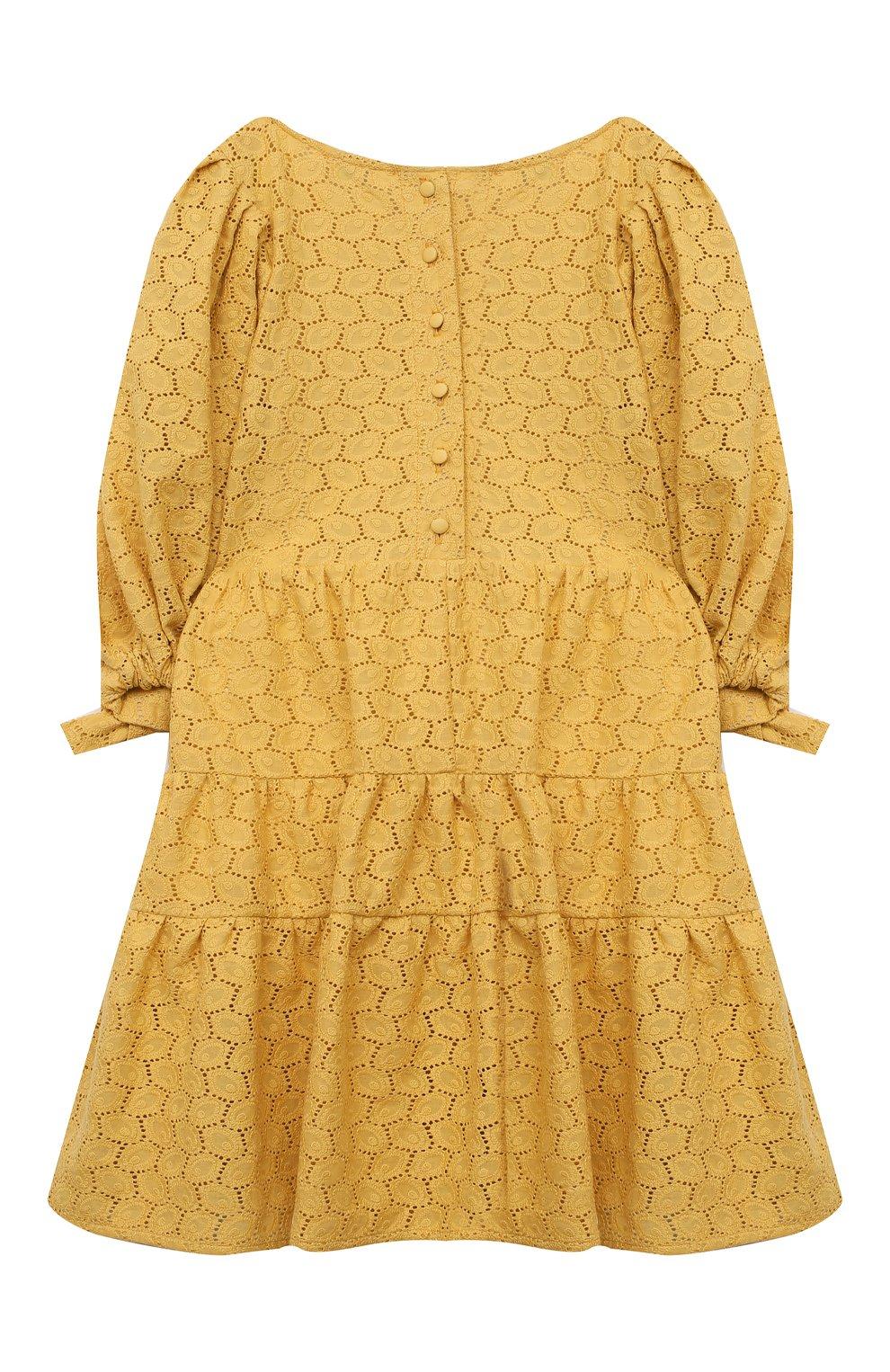 Детское хлопковое платье ZHANNA & ANNA желтого цвета, арт. ZAY03032021   Фото 2