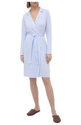 Женский хлопковый халат LE CHAT светло-голубого цвета, арт. ESSENTIELE60A | Фото 2