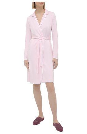 Женский хлопковый халат LE CHAT светло-розового цвета, арт. ESSENTIELE60A | Фото 2