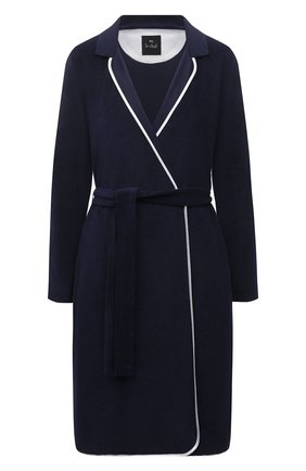 Женский хлопковый халат LE CHAT темно-синего цвета, арт. ESSENTIELE61A | Фото 1