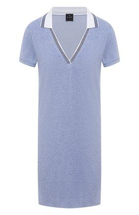Женская хлопковая сорочка LE CHAT голубого цвета, арт. FARNIENTE140 | Фото 1