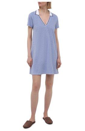 Женская хлопковая сорочка LE CHAT голубого цвета, арт. FARNIENTE140 | Фото 2