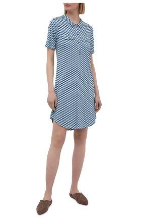 Женская сорочка из вискозы LE CHAT голубого цвета, арт. VITA141 | Фото 2