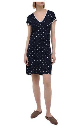 Женская сорочка из вискозы LE CHAT темно-синего цвета, арт. BELLAGIO101 | Фото 2