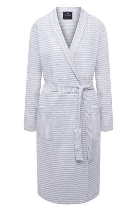 Женский хлопковый халат LE CHAT светло-серого цвета, арт. HAMILTON160 | Фото 1