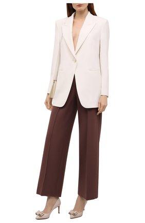 Женские кожаные туфли SALVATORE FERRAGAMO светло-бежевого цвета, арт. Z-07410021C   Фото 2