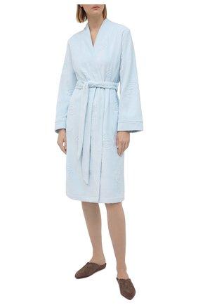 Женский хлопковый халат LOUISFERAUD светло-голубого цвета, арт. 3881730   Фото 2